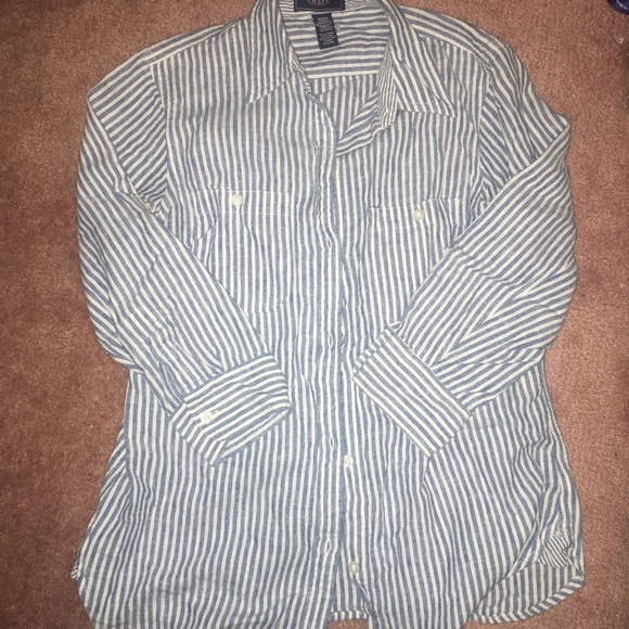 Ralph Lauren Tops - 3/$20 💎Denim striped Shirt Button Ralph Lauren
